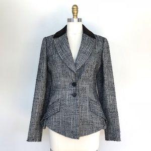 Carolina Herrera textured wool peplum blazer
